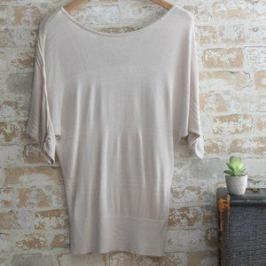 WHBM Lightweight Sweater with V Back, Size XS